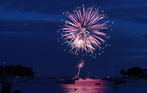 fireworks over the harbor